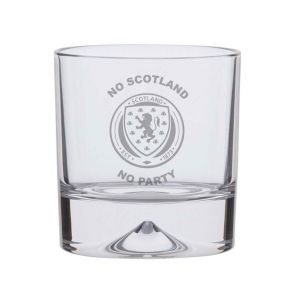 'No Scotland, No Party' Crystal Tumbler